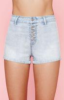 KENDALL + KYLIE Kendall & Kylie Super High Rise Powder Blue Denim Shorts