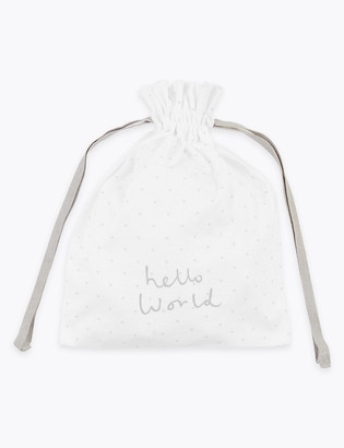 Marks and Spencer Organic Cotton Hello World Gift Bag