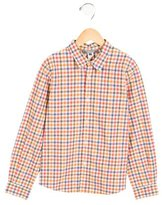 Bonpoint Boys' Plaid Patterned Button-Up Shirt