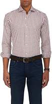 Barba Men's Checked Cotton Shirt