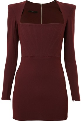 Alex Perry Structured Shoulder Dress