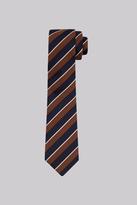 Moss Bros Navy & Rust Stripe Tie