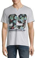 i jeans by Buffalo Mens Split Neck Short Sleeve T-Shirt