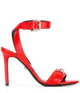 Versace Medusa stiletto sandals - women - Calf Leather/Leather - 37