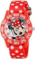 Disney Kids' W001949 Minnie Mouse Analog Display Analog Quartz Watch