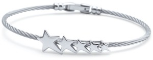 Charriol Graduated Star Cable Bracelet in Stainless Steel & Sterling Silver