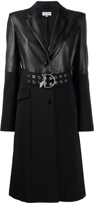 Patrizia Pepe Single-Breasted Faux-Leather Coat