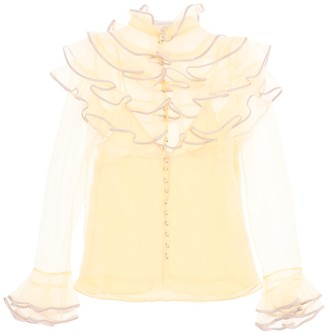 Zimmermann lucky tired organza blouse