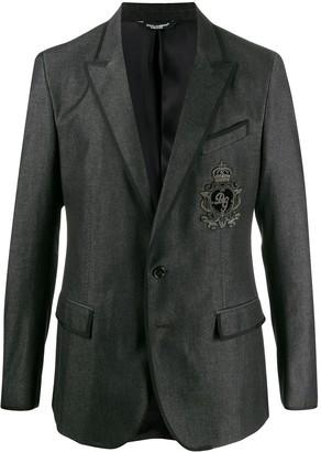 Dolce & Gabbana Heraldic Patch Blazer