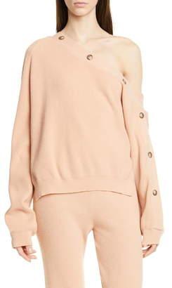 Nanushka Camerin One-Shoulder Sweater