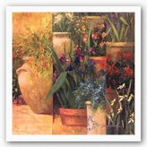 "Bentley Flower Pots Left by Art Fronckowiak 24""x24"" Art Print Poster"