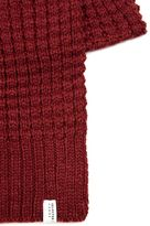 Selected Homme Burgundy Waffle Textured Scarf