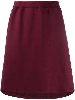 Kappa logo-tape A-line skirt