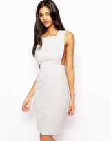 Aq/Aq Aq Aq Karla Midi Dress With Cut Out Back