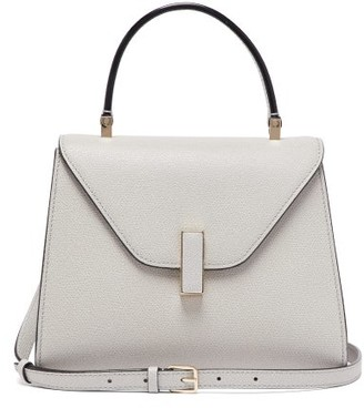 Valextra Iside Mini Grained-leather Bag - Womens - Grey