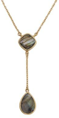 Lord & Taylor 18Kt Gold and Double Teardrop Necklace