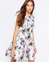 Yumi Floral Print Skater Dress