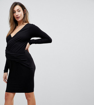 Asos Wrap Bodycon Dress with Ruching
