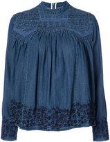 Needle & Thread denim embroidered blouse