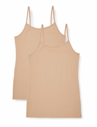 Iris & Lilly Amazon Brand Women's Vest in Cami Shape Pack of 2
