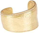 Vince Camuto Hammered Organic Shape Pave Cuff