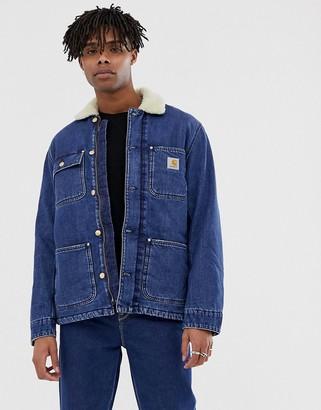 Carhartt Wip WIP Fairmount denim coat in dark stone blue
