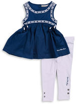 Calvin Klein Girls 2-6x Little Girls Tunic and Leggings Set