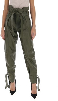 ATTICO High-Waisted Belted Trousers