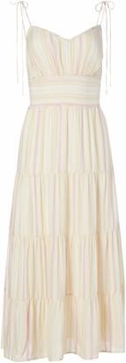Paige Women's Sleevless Midi w/Tiered Skirt Favella Dress