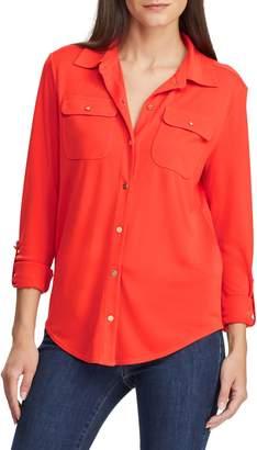 Lauren Ralph Lauren Roll-Tab Sleeve Shirt