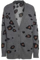360 Sweater Georgie Leopard-cashmere Cardigan Sweater