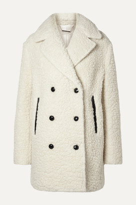 By Malene Birger Double-breasted Textured Wool-blend Coat - Cream