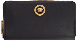 Versace Black Tribute Continental Wallet