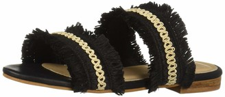 Kaanas Women's YASSICA Frayed Flat Open Toe Slide Sandal Shoe