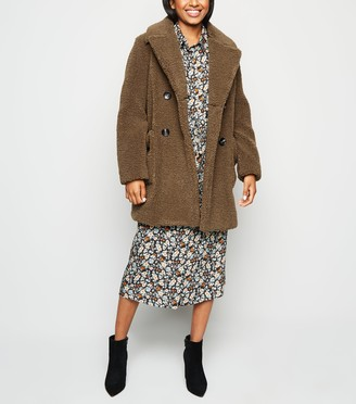New Look Petite Teddy Coat