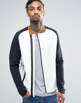 Nike Tech Fleece Bomber In White 832114-100