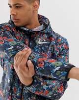 Nike Running windrunner printed jacket in multicolour