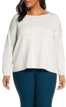 Eileen Fisher Bateau Neck Wool Blend Sweater