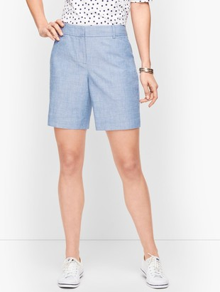 "Talbots Perfect Shorts - 7"" - Chambray"