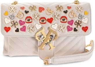 Pinko Enamel Badge Cross Body Bag