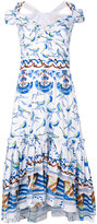 Peter Pilotto bird print dress - women - Cotton - 10