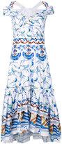 Peter Pilotto bird print dress - women - Cotton - 8