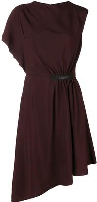 Lanvin Crepe Asymmetric Midi Dress