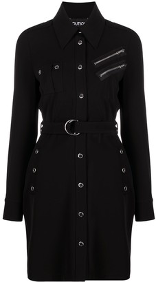 Boutique Moschino Belted Button-Up Shirt Dress