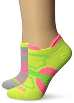 Saucony Women's 2 Pack Elite Dash Superlite Low Cut Double Tab Socks