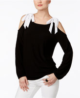 INC International Concepts Bow Cold-Shoulder Top, Created for Macy's