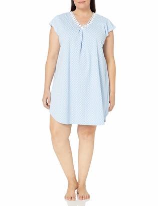 Karen Neuburger Women's Plus Size Sleeveless Pullover Nightshirt
