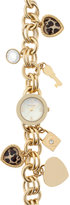 Style&Co. Style & Co. Women's Gold-Tone Iron Charm Bracelet Watch 24mm SY019G - Only at Macy's