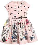 Simonetta Printed Cotton Satin Party Dress