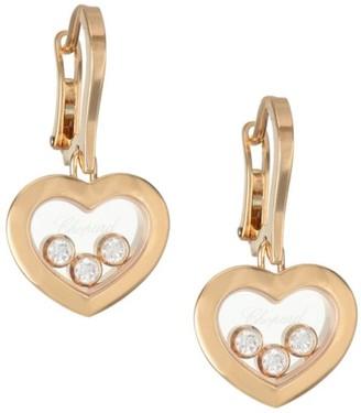 Chopard Happy Diamonds 18K Rose Gold & Diamond Earrings